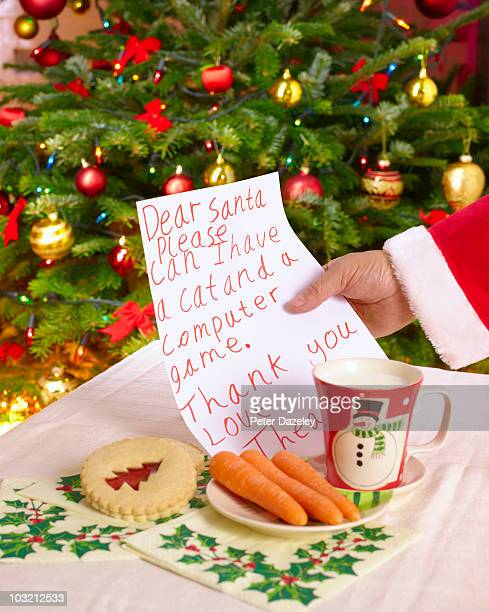 Father christmas with child's letter