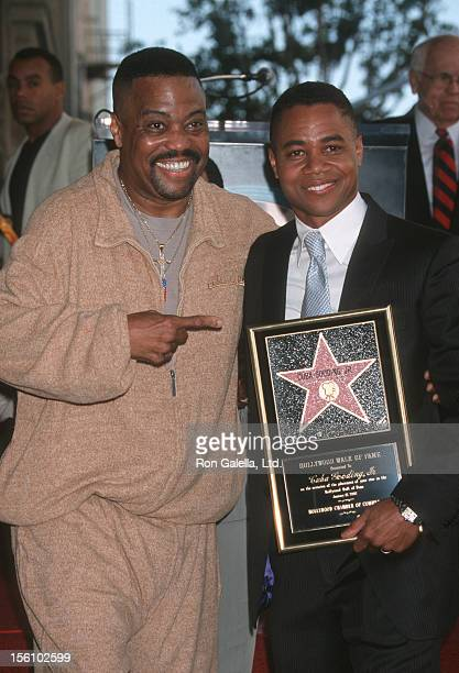 Father Cuba Gooding and Cuba Gooding Jr during Cuba Gooding Jra Honored with a Star on the Hollywood Walk of Fame for His Achievements in Film at...