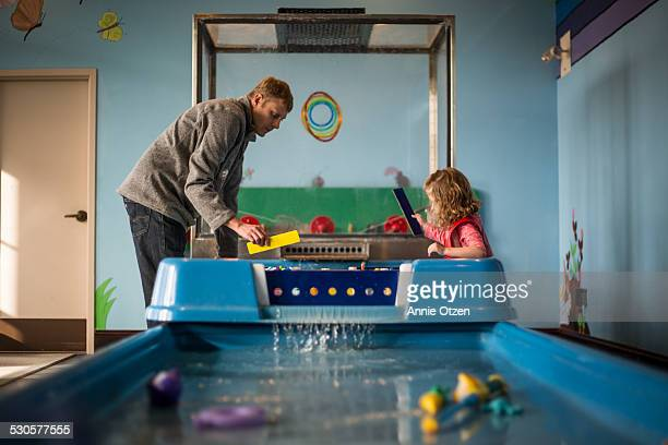 Father, Daughter, and water table