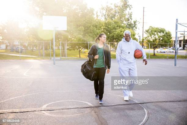 Father Daughter Basketball Practice