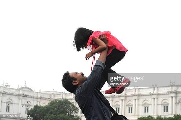 Father & Daughter Enjoying