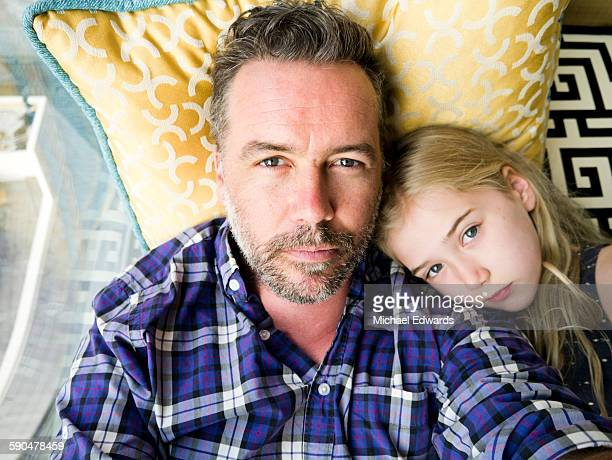 father daughter portrait - leanintogether stock pictures, royalty-free photos & images