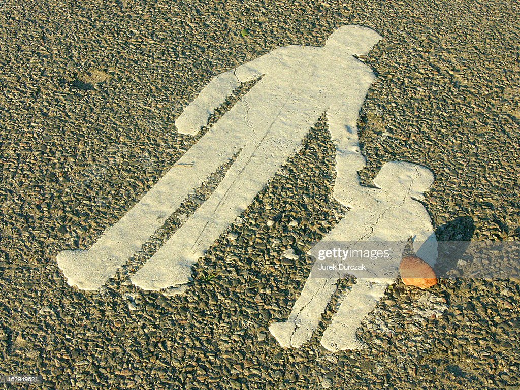Father, daughter, stone : Stock Photo