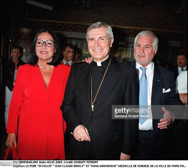 Father Di Falco Jean Claude Brialy and Nana Mouskouri Nana Mouskouri receives the Vermeil medal from the city of Paris