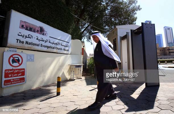 Father Emmanuel Benjamin Jacob Gharib Chairman of the National Evangelical Church of Kuwait and Pastor of the Kuwaiti Presbyterian Church arrives at...