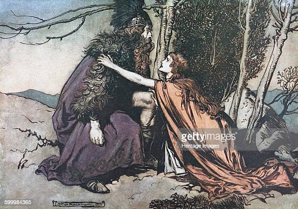 Father Father Tell me what ails thee Illustration for The Rhinegold and The Valkyrie by Richard Wagner 1910 Private Collection Artist Rackham Arthur