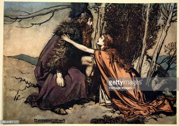 Father Father Tell me what ails thee With dismay thou art filling thy child' 1910 Illustration from The Rhinegold and the Valkyrie 1910 Brunnhilde...