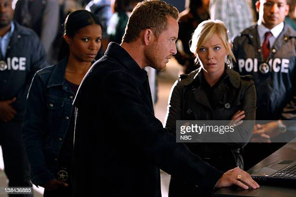 CHASE 'Father Figure' Episode 114 Pictured Rose Rollins as Dasiy Ogbaa Cole Hauser as Jimmy Godfrey Kelli Giddish as Annie Frost