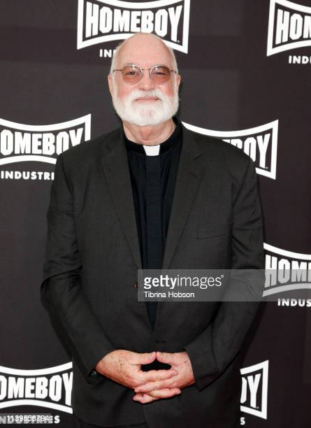 Father Gregory Boyle attends Homeboy Industries 2019 Lo Máximo Awards Dinner at JW Marriott Los Angeles at LA LIVE on March 30 2019 in Los Angeles...