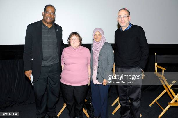 Father Gregory Chisholm Caroline Christie Dr Sarah Sayeed and Rabbi Michael Feinberg attend the screening of The Weinstein Companies' Mandela A Long...