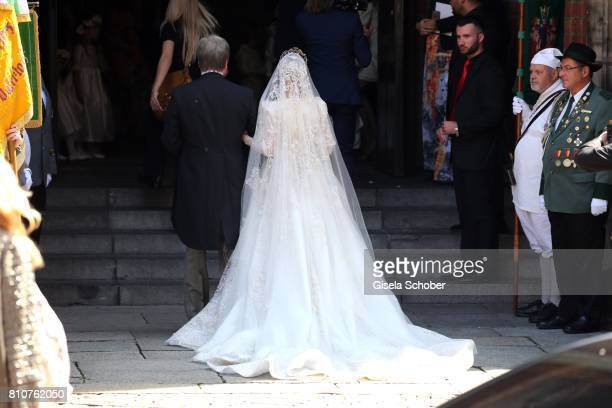 Father Igor Malysheva and his daughter bride Ekaterina Malysheva during the wedding of Prince Ernst August of Hanover jr Duke of BrunswickLueneburg...