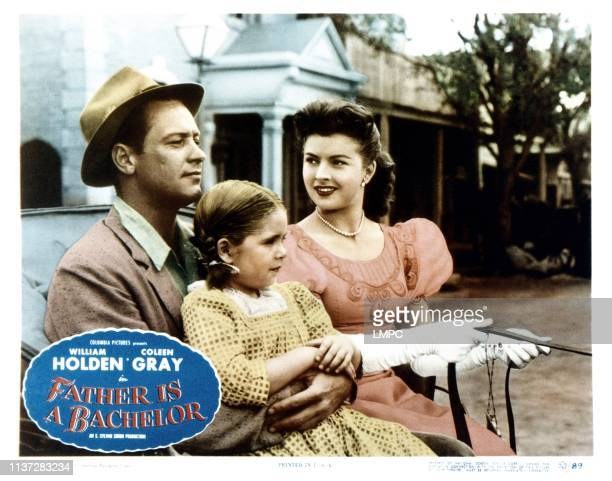Father Is A Bachelor lobbycard from left William Holden Mary Jane Saunders Coleen Gray 1950