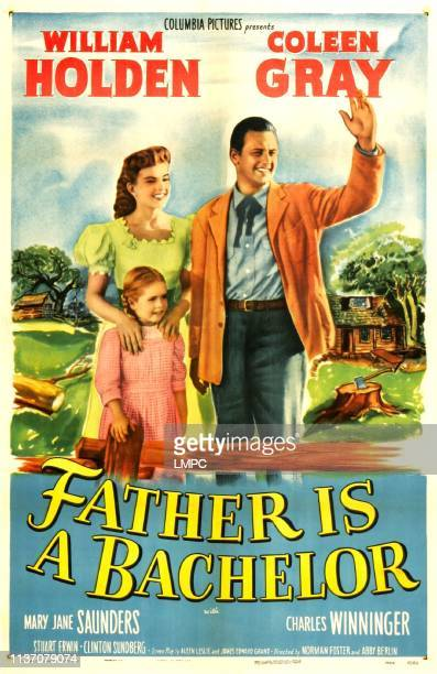 Father Is A Bachelor poster US poster from left Coleen Gray Mary Jane Saunders William Holden 1950
