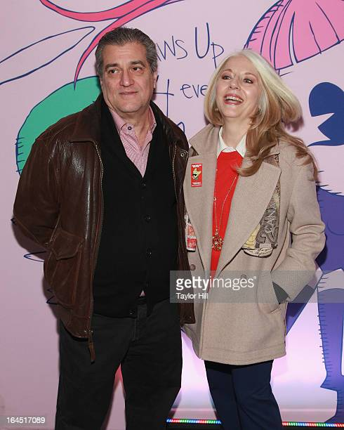 Father Joe Germanotta and mother Cynthia Germanotta attend Lady Gaga's Born Brave Bus Tour in Times Square on March 23 2013 in New York City