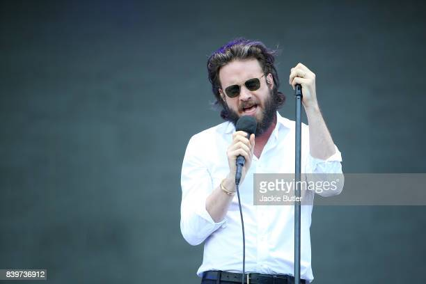 Father John Misty performs during MusicFestNW presents Project Pabst at Tom McCall Waterfront Park on August 27 2017 in Portland Oregon