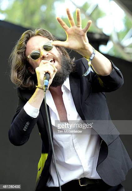 Father John Misty performs during the Pemberton Music Festival on July 18 2015 in Pemberton Canada