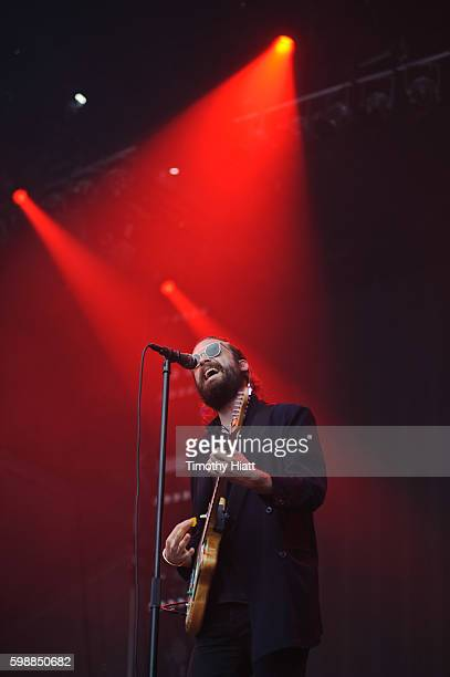 Father John Misty performs on day one of the 2016 Bumbershoot Festival at Seattle Center on September 2 2016 in Seattle Washington
