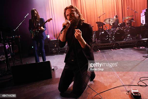 Father John Misty performs on stage at at O2 Shepherd's Bush Empire on October 28 2015 in London England