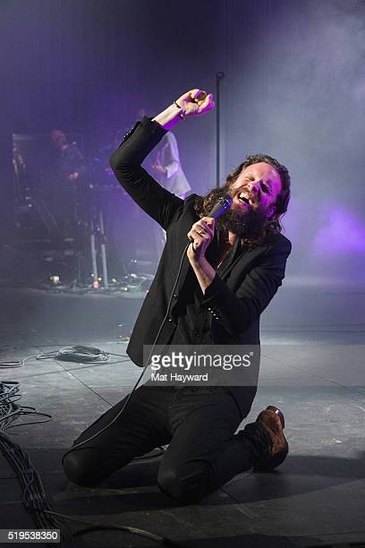 Father John Misty performs on stage at The Paramount Theater on April 6 2016 in Seattle Washington