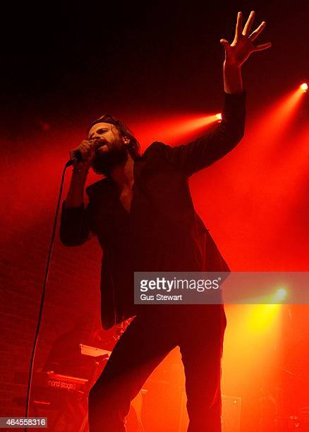 Father John Misty performs on stage at Village Underground on February 26 2015 in London England