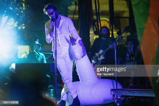 Father John Misty performs on stage during the Capitol Hill Block Party on July 22 2018 in Seattle Washington