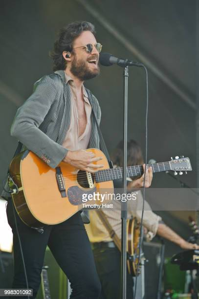 Father John Misty performs on the first day of the Forecastle Festival on July 13, 2018 in Louisville, Kentucky.