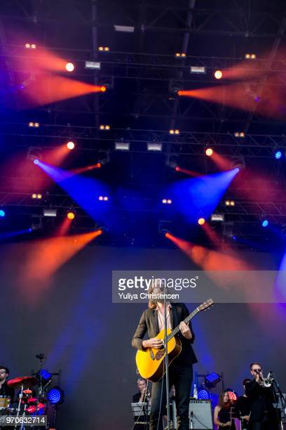 Father John Misty performs onstage at the Northside Festival on June 9 2018 in Aarhus Denmark