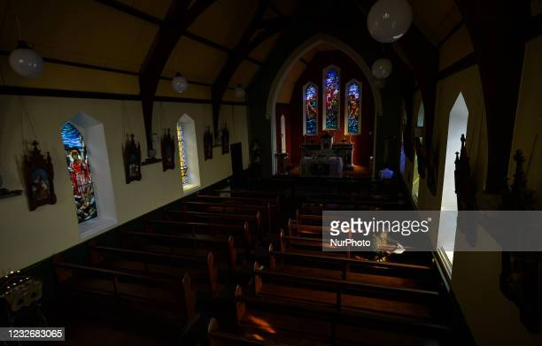 Father Krzysztof Sikora inside St James's Church, in Cashel, Connemara. Geographically, Roundstone parish is considered Ireland's largest parish and...