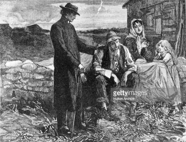 Father Matthew visits a farming family during The Great Famine which was caused by the failure of the Irish potato crop and British government...