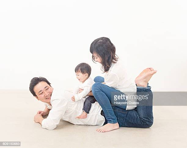 Father, Mother and toddler