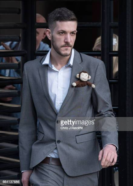 Father of Charlie Gard Chris Gard leaves the Royal Courts of Justice on April 3 2017 in London United Kingdom The crowdfunding campaign raising money...