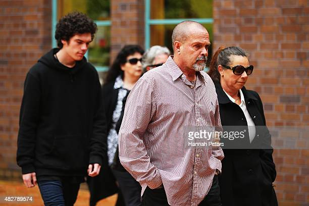 Father of Connor Morris Head Hunters associate Chris Morris and his wife Julie Morris arrive at the Auckland High on August 3 2015 in Auckland New...