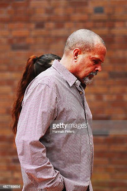 Father of Connor Morris Head Hunters associate Chris Morris arrives at the Auckland High on August 3 2015 in Auckland New Zealand The trial of the...