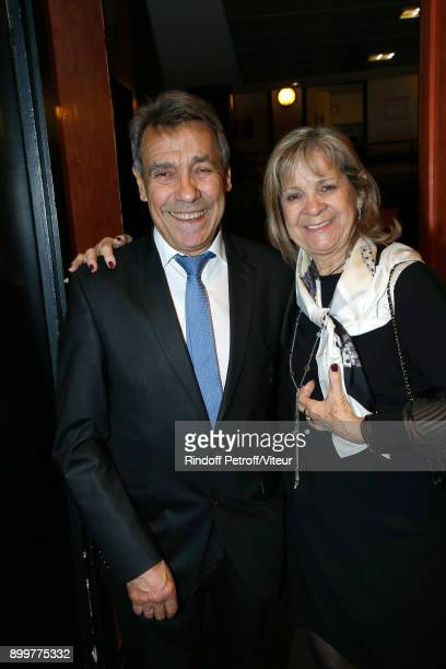 Father Of Laurent Gerra Nanou Gerra and Mother of Laurent Gerra Nicole Gerra Celebrate Laurent Gerra Birthday at L'Olympia on December 29 2017 in...