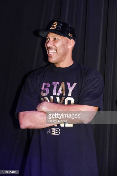 Father of Los Angeles Lakers Lonzo Ball LaVar Ball attends as the Big Baller Brand hosts a fashion show and the release of Lonzo Ball's 'Born 2 Ball'...
