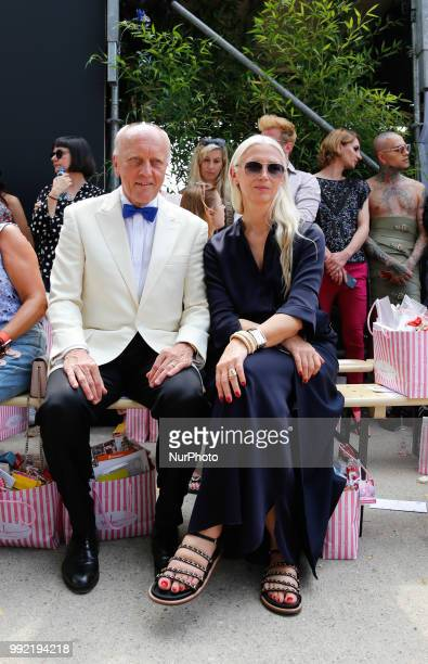Father of Marina Hoermanseder and Vogue Germany editor in chief Conte Nast at the Spring/Summer 2019 collection show during the third day of MBFW...
