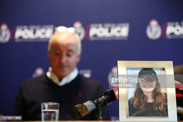 Father of missing British woman Grace Millane David Millane reads a statement on on December 07 2018 in Auckland New Zealand Police are investigating...