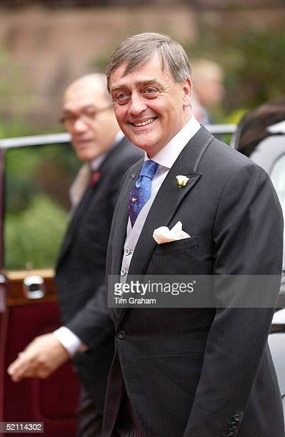 Father Of The Bride The Duke Of Westminster, Gerald Grosvenor, Arriving For His Daughter's Wedding At Chester Cathedral