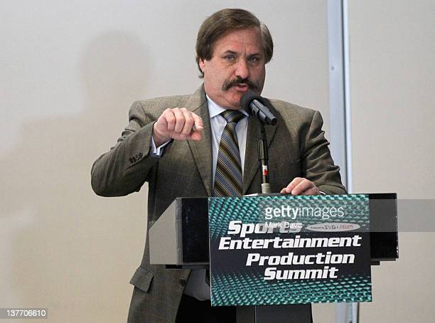 Father of the Modern Day Super Bowl and Current Director of Pac12 Football Championship Game Jim Steeg speaks onstage at Variety's 2012 Sports...