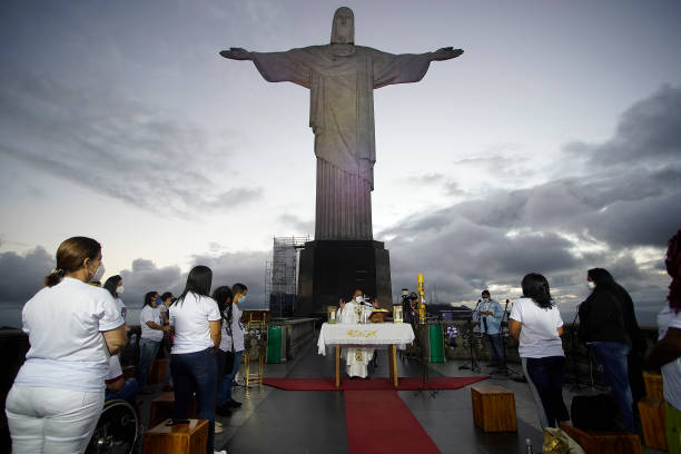 BRA: Celebration Mass of the 10th Anniversary of the Realengo Massacre at the Christ the Redeemer Amidst the Coronavirus (COVID-19) Pandemic