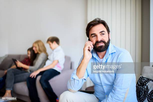 Father on the phone