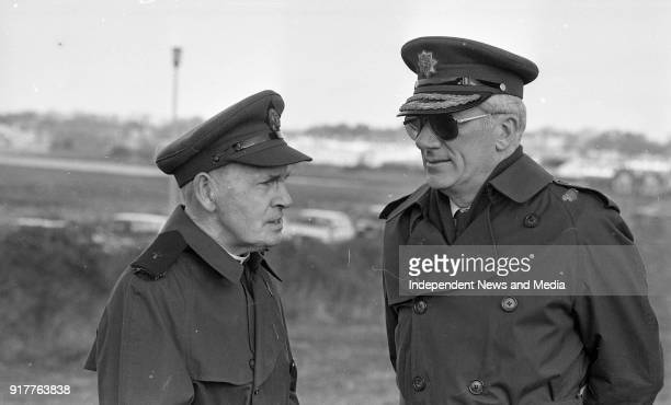 Father Pat Tohar Army Chaplain and General Tadhg O'Neill at the sod turning ceremony for the new Dept of Defence Office in Renmore Galway