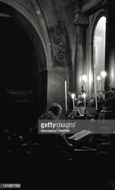 Father Pio celebrates mass at the convent of San Giovanni Rotondo Italy