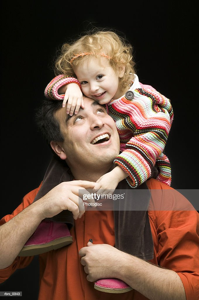 Father playing with his daughter : Foto de stock