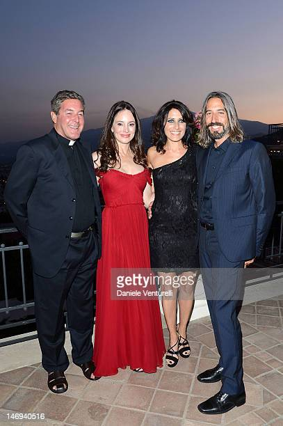 Father Rick Frechette Madeleine Stowe Robert Russell and Lisa Edelstein attend the Opening Ceremony during the 58th Taormina Film Fest on June 23...