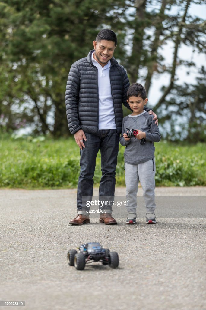 Father Son with RC Car : Stock Photo