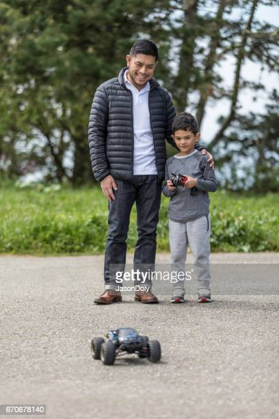 Father Son with RC Car