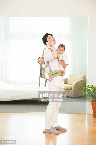 Father suffering from childcare