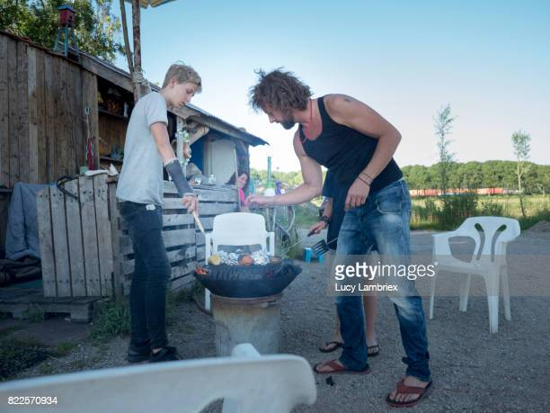 Father & Teens: barbecue time