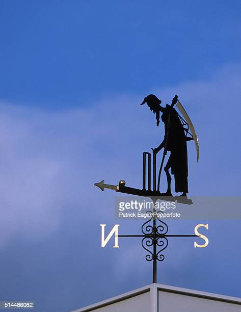 Father Time atop the Clock Tower at Lord's cricket ground during the ICC Cricket World Cup in London 9th June 1999